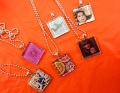 Time to DIY: MOPS Craft - Glass Tile Pendants