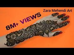 Beautiful Arabic Henna Design| #9 Zara Mehendi Art - YouTube
