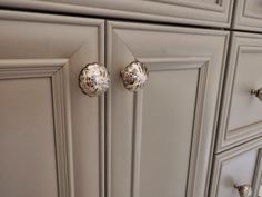 Custom Cabinetry Is Decorated With Jewelry Type Knobs From Homegoods The Perfect Accent To Glass Cabinetsbathroom