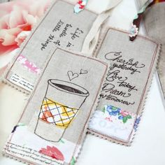 Learn how to make these fabric bookmarks. Easy to make and give.