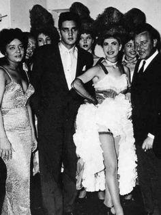 Elvis in Paris. Elvis Presley and afro-american singer Nancy Holloway, Paris, 1959. Elvis traveled from Germany, when he was in the Army.