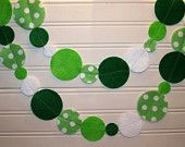 St Patricks Day Irish Garland with Green Polka Dot Felt