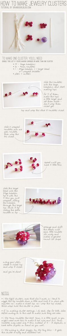 How to make jewellery clusters.