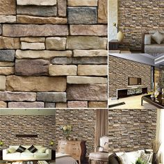 3D Modern Brick Stone Style Wallpaper Bedroom Living Mural Roll Wall Background | Home & Garden, Home Improvement, Building & Hardware | eBay!