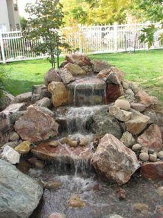 Garden Waterfall on Pinterest
