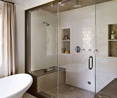Best Farmhouse Shower Tiles Design Ideas - Page 5 of 48 - Adila Decor Shower Tile Designs, Shower Tiles, Deep Tub, Victorian Bathroom, Shower Remodel, Wet Rooms, White Tiles, Color Tile, Modern Spaces