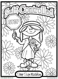 self control coloring pages for kids | Virtues is working on an older version that will focus on ...