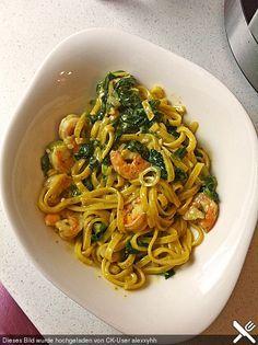 Pasta Scampi e Spinaci alla  Vapiano