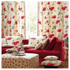 This is what I want, bright, cheery, springy colored drapes.