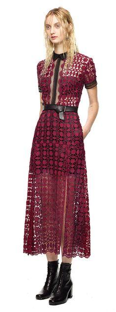 Scallop Edged Midi Dress in Burgundy http://www.furlongfashion.com/2015/08/lady-in-red.html