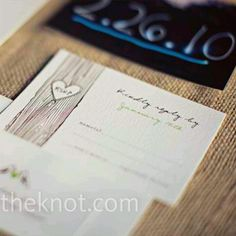 Rsvp for wedding with purple instead of green
