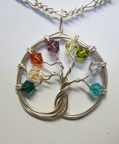 Sterling Silver & Swarovski Crystal Tree of by Mariesinspiredwire