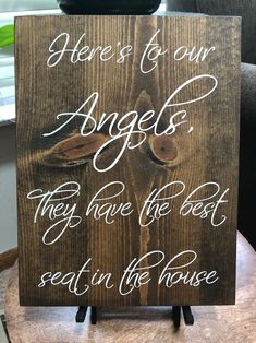 Memory Table Sign Angels have the best seat Watching from | Etsy Gift Table Wedding, Wedding Memorial Table, Wedding Seating, Our Wedding, Wedding Stuff, Dream Wedding, Wedding Ideas, Wedding Planning, Fall Wedding Decorations
