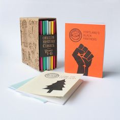 Here's another excellent thing we're carrying in our distro. A box set of zines about Oregon history by Portland's Dil Pickle Club! http://www.microcosmdistribution.com/catalog/zines/3869/