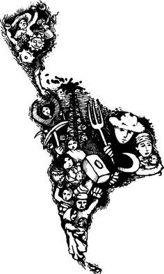 Resultado de imagen para latinoamerica revolucionaria Latina Tattoo, Arte Latina, Arte Punk, Tattoo Project, Map Design, Stencil Art, Pretty Tattoos, Mexican Art, Logo Color