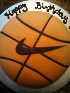 Nike basketball cake