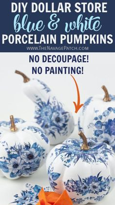 Diy Crafts For Home Decor, Fall Home Decor, Fall Crafts, Pumpkin Stencil, Crafts For Seniors, Dollar Tree Crafts, Fall Diy, Pumpkin Decorating, Fall Pumpkins