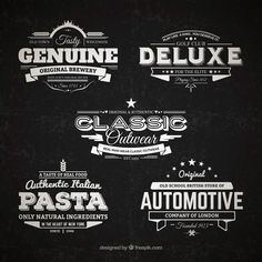 Check out this new collection of 5 retro badges created and released by freepik | GraphicBurger