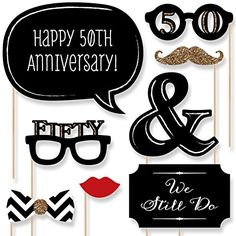50th Anniversary - Photo Booth Props Kit - 20 Count Big Dot of Happiness http://www.amazon.com/dp/B011ACQH08/ref=cm_sw_r_pi_dp_aZtVvb1GJTAJ9