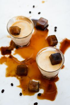 Iced Coffee Cubes | KiranTarun.com/Food