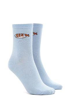 Sushi Graphic Crew Socks