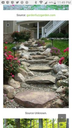 Stone and gravel stairs