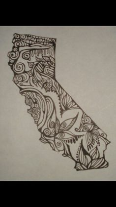 California state outline with bear classroom ideas for State outline tattoo