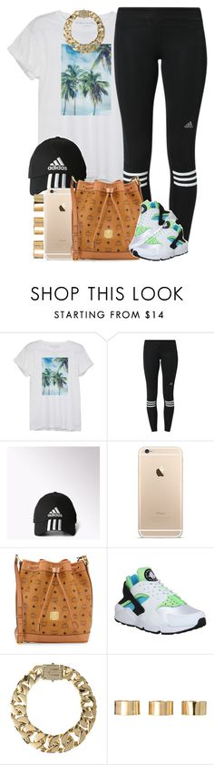 """Adidas x Nike"" by livelifefreelyy ❤ liked on Polyvore featuring moda, adidas, MCM, NIKE, AllSaints y ASOS"