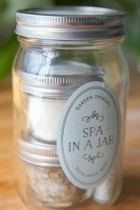 Spa in a Jar tutorial with personalized tags and labels from Evermine (www.evermine.com)