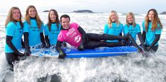 Rick Mercer learns to surf from the fabulous Surf Sisters! Tofino, BC