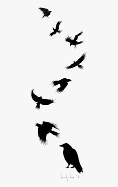 Tattoo Flight Crow Drawing Common Ink Bird - Small Black Raven Tattoo { - Free Cliparts on ClipartWiki Silhouette Tattoos, Crow Silhouette, Mom Tattoos, Future Tattoos, Body Art Tattoos, Tree Tattoos, Deer Tattoo, Bird Tattoos, Ankle Tattoos