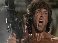 Sylvester Stallone in Rambo: First Blood Part II Action Movie Stars, Action Movies, John Rambo, Demolition Man, First Blood, War Film, Silly Faces, Rocky Balboa, The Expendables