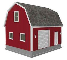 20 X 24 X 10 Gambrel Garage Barn Plans. x Gambrel Barn - Shed. Over 100 Different garage and barn plans all on one DVD. Bonus second plan 12 x 20 x 10 DWG and PDF. Gambrel Barn, Barns Sheds, Barn Plans, Building A Shed, Garages, Outdoor Structures, Patio, How To Plan, Barns