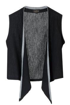 Black silk gilet jacket. BY ROUKA. Shop now at: www.perniaspopups... #perniaspopupshop #designer #stunning #fashion #style #beautiful #happyshopping #love #updates