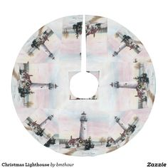 Christmas Lighthouse Brushed Polyester Tree Skirt 20% off with code LASTCHANCE16