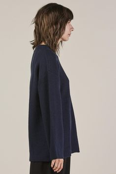 Sylvie pullover, Navy by Base Range @ Kick Pleat - 4