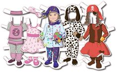 Toddlers MAGNETIC Personalized Paper Doll WITH By SandyFordDesign 5700 Dolls Art