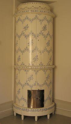 cupboard built like a Swedish tile stove