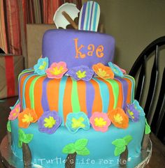 Luau cake by A Turtle's Life for Me