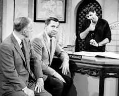 Jerry Lewis and Jack Webb during a sketch on The Jerry Lewis Show, 1968.