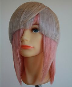 Matrix Mannequin Mania July Semi-finalists! Avant Garde Hair Color and Cut. Ice Blonde and Light Pink