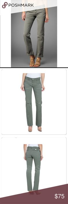 NWT, AG, Cypress Green Boyfriend Fit Khakis! NWT, AG Boyfriend Khaki. Slightly loose and sexy boyfriend silhouette in classic khaki details. Trouser front pockets, welt pockets in the back. The perfectly factory worn-in and faded pair of khakis! AG-ed Khakis are handcrafted to replicate a true vintage khakis offered in a naturally aged appearance. Approx Measurements: Front Rise 8. Back Rise 12.75. Leg Opening 15.75 with rolled ankle! Military Right Hand Twill 55% Supima 45% Cotton. Cypress…
