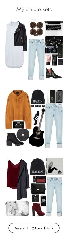 """""""My simple sets"""" by obrien91 ❤ liked on Polyvore featuring Acne Studios, Zara, New Look, H&M, Retrò, Topshop, NARS Cosmetics, Brian Lichtenberg, CASSETTE and adidas"""