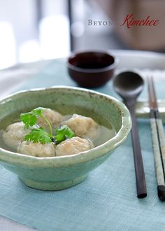 """Nude"" Dumplings - Coat w/ a different type of flour (not corn) to make Paleo!  Could also use this recipe to make asian meatballs and bake them!"