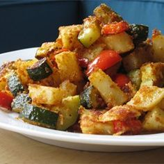 Zucchini+and+Potato+Bake+-+Allrecipes.com...substitute almond meal for the breadcrumbs and its paleo AND Whole 30 compliant!