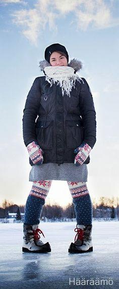 Swantsit (sweater pants) ja lapaset vanhasta villapaidasta Knitting Socks, Diy Clothes, Mittens, Knitwear, Winter Jackets, Sewing, Sweaters, Pants, Fashion