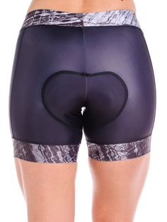 Women's Padded Cycling Shorts The Coeur women's cycling shorts feature a super-soft, silky Poly/Spandex fabric with a compressive feel. They are made specifically for a woman's body and have an import