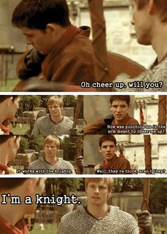 And this is the story of how all cute merthur moments were ruined