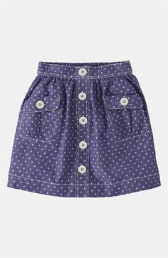 Mini Boden 'Spotty' Chambray Skirt (Little Girls & Big Girls) available at Nordstrom