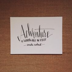 Here's to the many grand (big or small) adventures this weekend holds. #adventures #annalovestoletter #calligraphy #handlettering #ameliaearhart